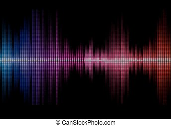 music sound waves - Disco rainbow colored music sound waves...