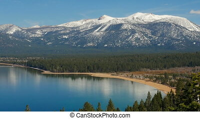 Landscape of the Lake Tahoe - Overview of the Lake Tahoe,...