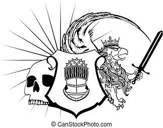 heraldic griffin crest tattoo4 - heraldic griffin crest coat...