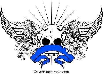 heraldic griffin crest tattoo - heraldic griffin crest coat...