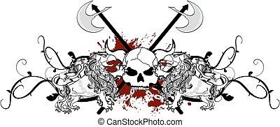heraldic griffin crest tattoo0 - heraldic griffin crest coat...
