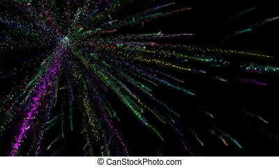 Fireworks color abstract light