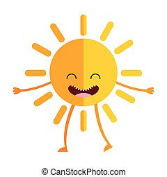 sun character isolated icon vector illustration design