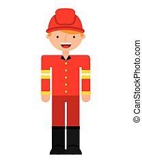 fire fighter character isolated icon vector illustration...