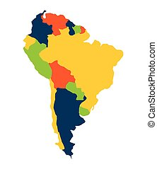 south american map isolated icon vector illustration design