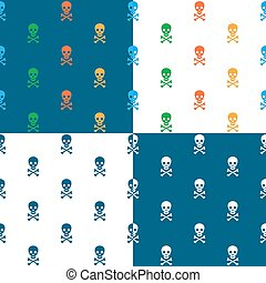 Skull and crossbones repeat seamless pattern - Skull and...