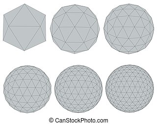 Set with spheres - Vector illustration set with spheres. The...