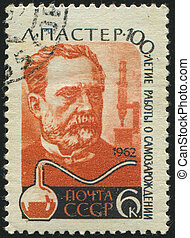 postmark - RUSSIA - CIRCA 1962: stamp printed by Russia,...