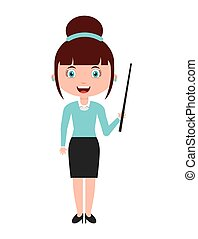 woman female teacher character vector illustration design