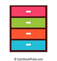 chest of drawers isolated icon