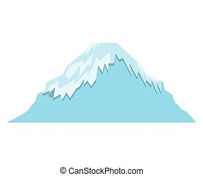 mount fuji asian isolated icon
