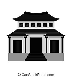 building temple japanese icon