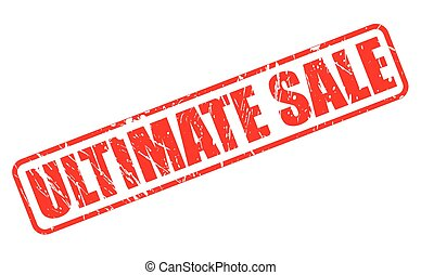 ULTIMATE SALE red stamp text on white