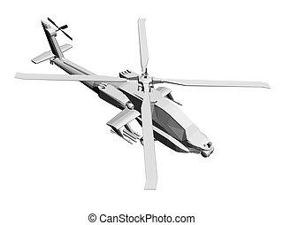 Helicopter - Vector illustration of a helicopter Isolated...