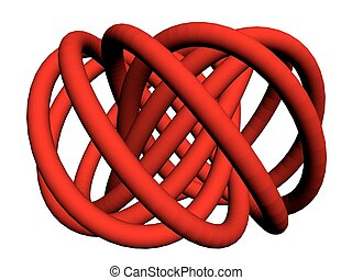 torus knot2.eps - Vector illustration of abstract torus with...