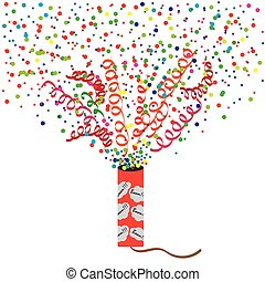 Petard - Vector illustration of exploding firecrackers...