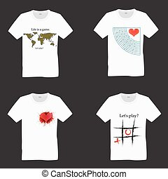 T-shirts with prints - Set of T-shirts with prints Series -...