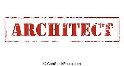 Architect - Rubber stamp with word architect inside, vector...