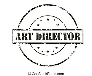 Art director - Rubber stamp with text art director inside,...