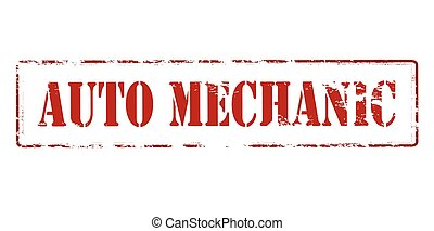 Auto mechanic - Rubber stamp with text auto mechanic inside,...