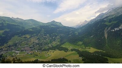 4K Aerial, Flying At Col De La Croix, Switzerland - Graded...