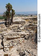 biblique, endroit, Israel:, Megiddo