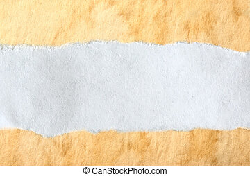 Ragged piece of white paper