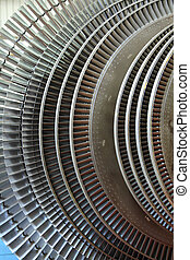Power generator turbine close up