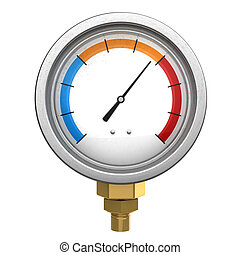 manometer - 3d illustration of manometer or water...