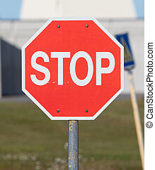 Old stop sign on an abandoned USAF air base in Iceland