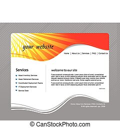 Web site design template, vector illustration.