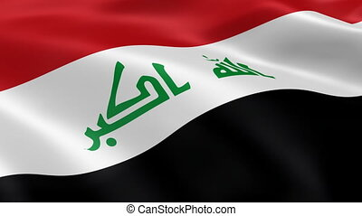 Iraqi flag in the wind Part of a series