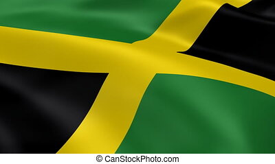 Jamaican flag in the wind. Part of a series.