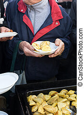 Warm food for the poor and homeless - CRACOW, POLAND -...
