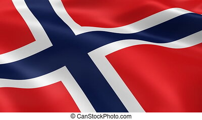 Norwegian flag in the wind. Part of a series.