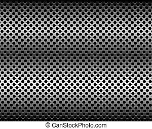 Black background of hexagon pattern texture