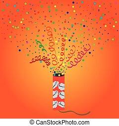 Petard - Bright vector illustration of exploding...
