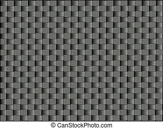 Carbon fiber, bound crosswise fibers, vector graphics