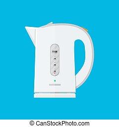 White electric teapot. modern kettle