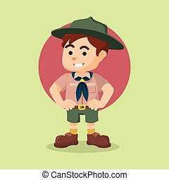 boy scout illustration design