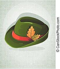 Oktoberfest hat with oak leaves