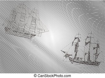 Background with ships