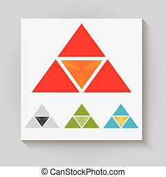 The triangular logo - Vector illustration logo with...
