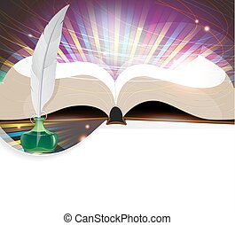 Book and feather