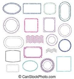 Stamps frames vector set