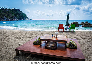Patio on the beach