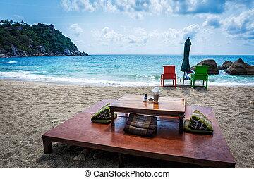 Patio on the beach