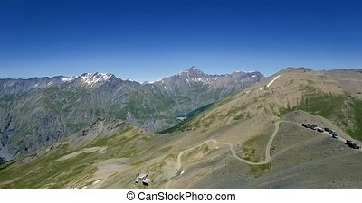 4K Aerial, Flying Above The Summit Of Monte Jafferau, Italy...