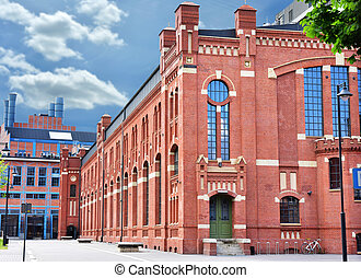 old buildings of CHP in Lodz after revitalization -...