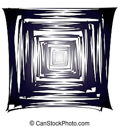 Abstract tunnel - Vector illustration of abstract corridor...